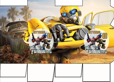 File digitale Scatolina Latte Transformers box contenitore personalizzabile addobbi festa a tema fai da te