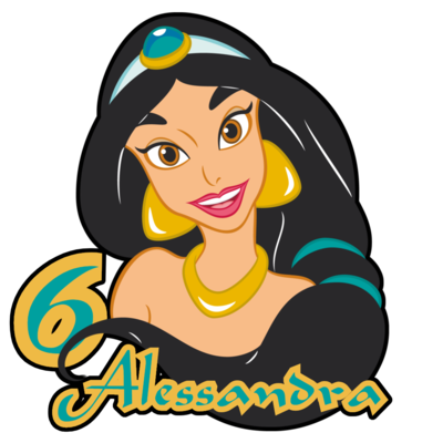 20 bandierine Jasmine Aladdin decorazioni torte topper Plum cake statuine Tortini