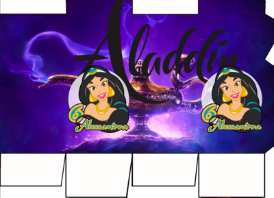 File digitale Scatolina Latte Jasmine Aladdin box contenitore personalizzabile addobbi festa a tema fai da te