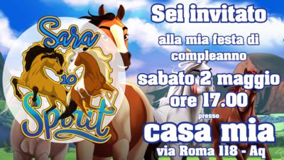10 Biglietti inviti personalizzati Spirit Cavallo festa compleanno bambini a tema
