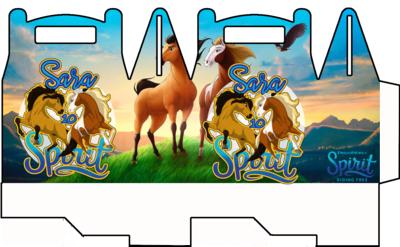 1 Scatolina Spirit Cavallo personalizzabili Regalo porta Gadgets confetti Caramelle bomboniere