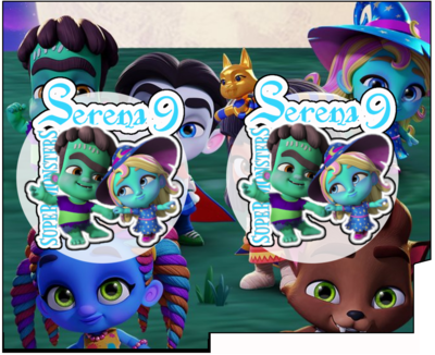 1 Porta Tovaglioli e Posate personalizzati Super Monsters addobbi feste di compleanno