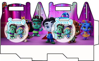 1 Scatolina Super Monsters personalizzabili Regalo porta Gadgets confetti Caramelle bomboniere