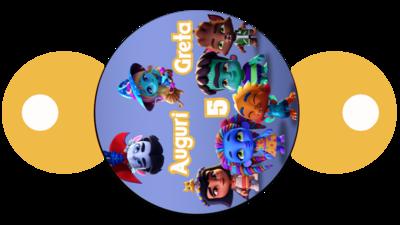 30 pezzi copri cannucce personalizzabili Super Monsters decorazioni festa a tema