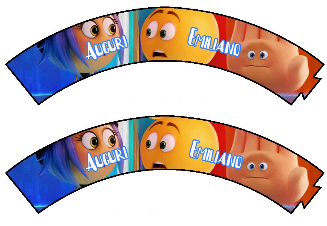 10 Wrapper Cupcake Emoji Emoticons personalizzabile addobbi festa a tema fai da te