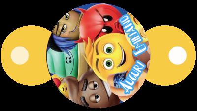 30 pezzi copri cannucce personalizzabili Emoji Emoticons decorazioni festa a tema