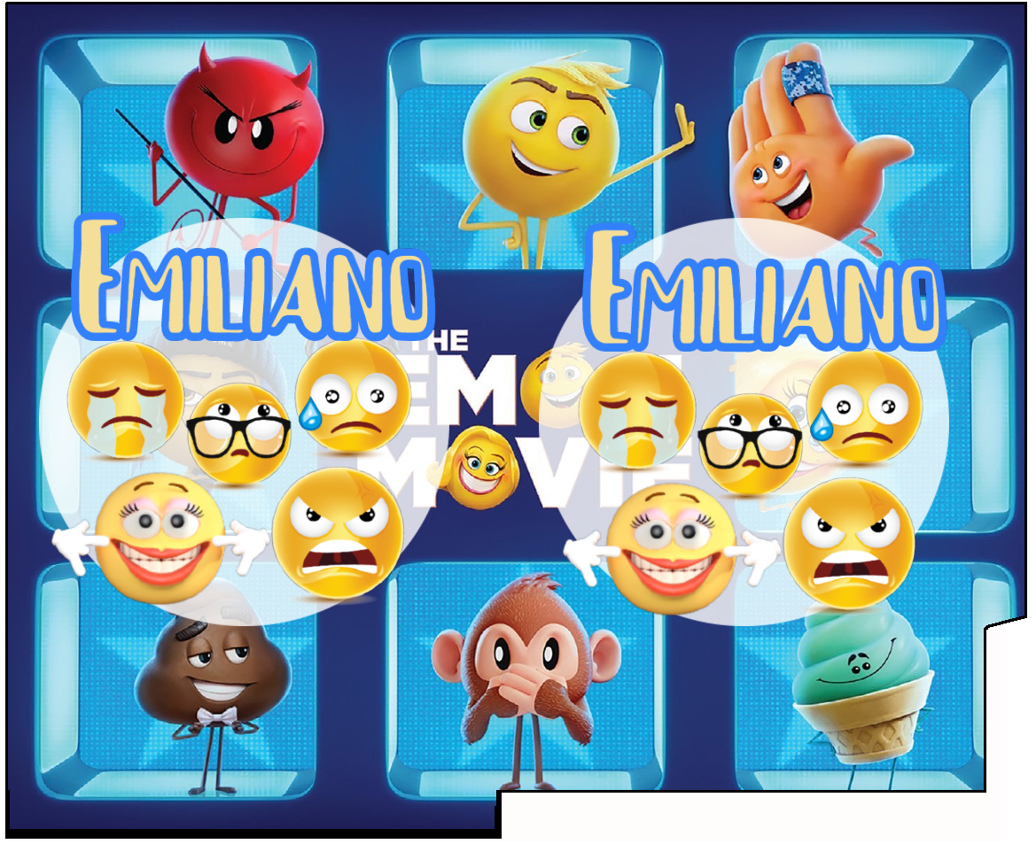 1 Porta Tovaglioli e Posate personalizzati Emoji Emoticons addobbi feste di compleanno