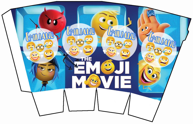 1 Scatolina Pop Corn Emoji Emoticons box contenitore personalizzabile addobbi festa a tema fai da te