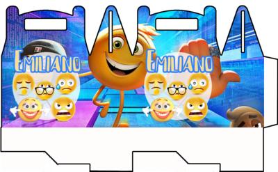 1 Scatolina Emoji Emoticons personalizzabili Regalo porta Gadgets confetti Caramelle bomboniere