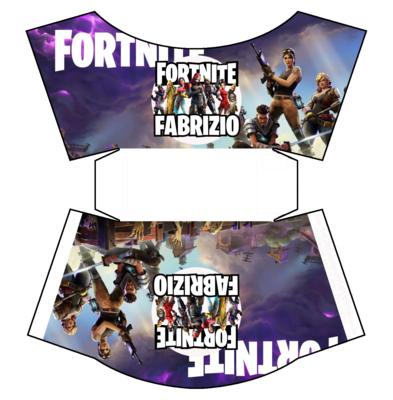 File digitale Scatolina patatine Mc Donald Fortnite box contenitore personalizzabile addobbi festa a tema fai da te