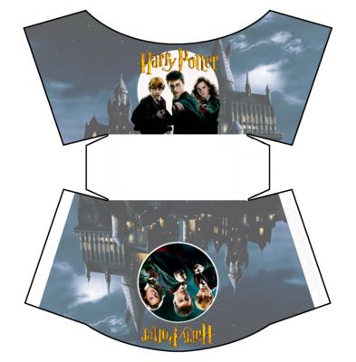 1 Scatolina patatine Mc Donald Harry Potter box contenitore personalizzabile addobbi festa a tema fai da te