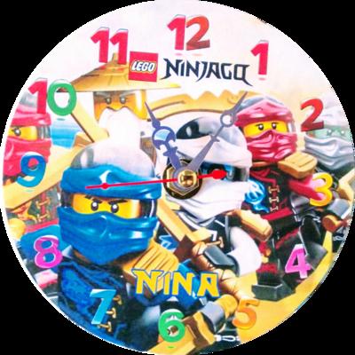 10 Orologi personalizzato su CD Lego Ninjago da muro