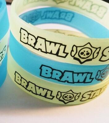 10 braccialetti a tema Brawl Stars in silicone Fosforescenti