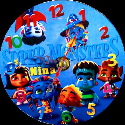 10 Orologi personalizzato su CD Super Monsters da muro