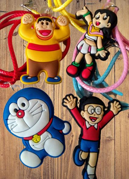 10 Collane Doraemon Pendente in gomma PVC