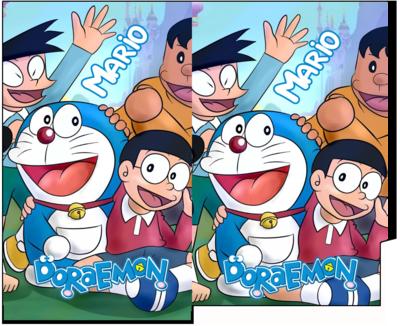 1 Porta Tovaglioli e Posate personalizzati Doraemon addobbi feste di compleanno