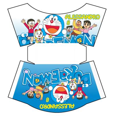 1 Scatolina patatine Mc Donald Doraemon box contenitore personalizzabile addobbi festa a tema fai da te