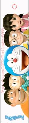 10 Segnalibro in Plastica personalizzato Doraemon