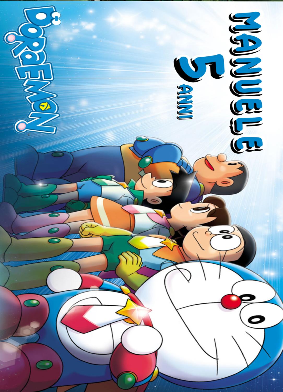 10 tovagliette americana colazione Doraemon personalizzata