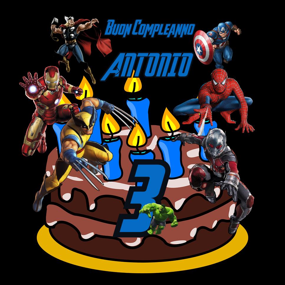 6 Topper Cake grandi personalizzati Avengers statuine per Torta compleanno