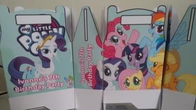 1 Scatolina My little pony personalizzabili Regalo porta Gadgets confetti Caramelle bomboniere