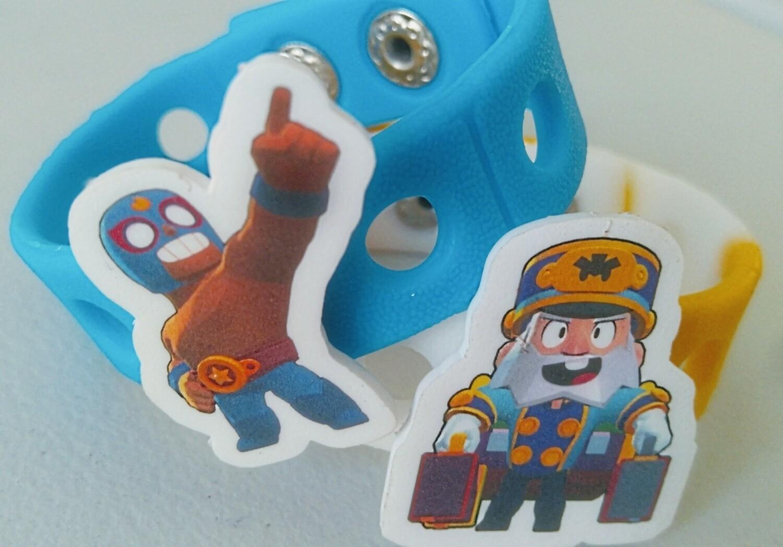 10 Braccialetti in gomma personalizzati gadget festa a tema