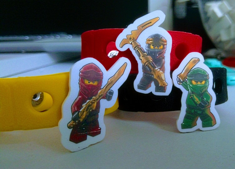 10 Braccialetti personalizzati Lego Ninjago in gomma  gadgets fine festa a tema compleanno bambini