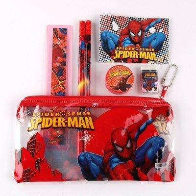 6 Astucci scuola Spiderman Tombolino Completo