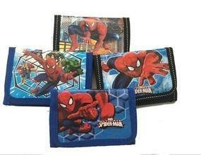 6 portafogli Spiderman portamonete gadget a tema fine festa compleanno bambini
