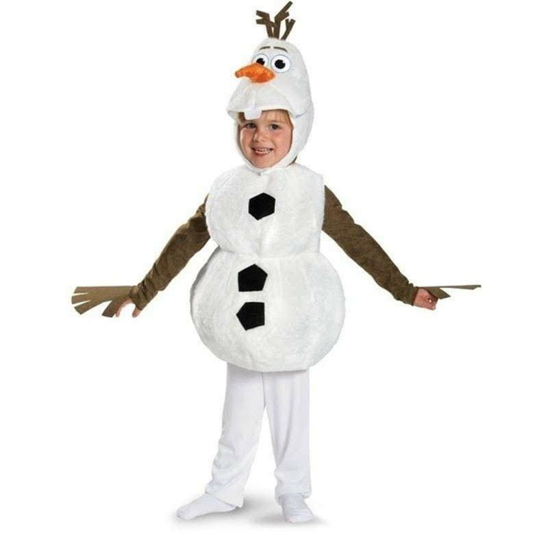 Costume Olaf pupazzo di neve principessa esla Frozen vestito carnevale maschera Carnevale