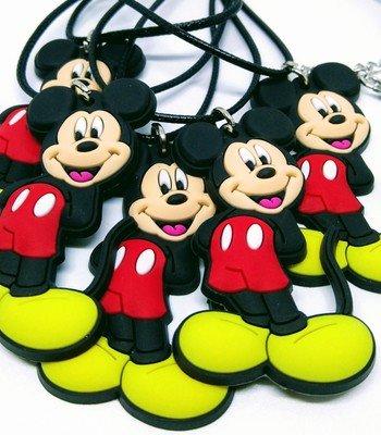 10 Collane Topolino Disney pendente in PVC