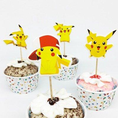24 decorazioni Pokemon Pikachu torte topper cake