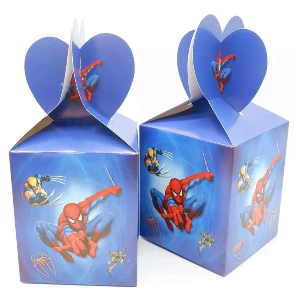 10 Scatoline Regalo Spiderman porta Gadgets confetti Caramelle