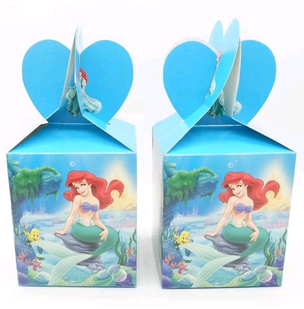10 Scatoline Ariel la Sirenetta Regalo porta Gadgets confetti Caramelle
