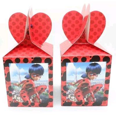10 Scatoline Regalo Miraculous Ladybug porta Gadgets confetti Caramelle