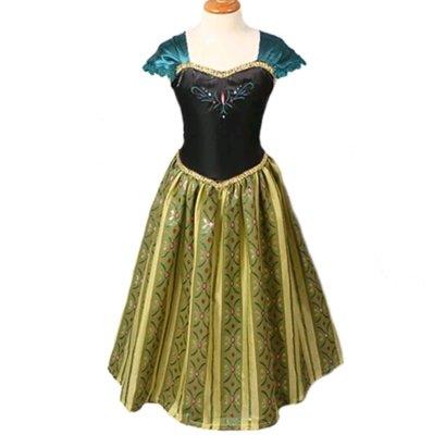 costume Principessa Anna Frozen Disney vestito maschera carnevale travestimento bambina