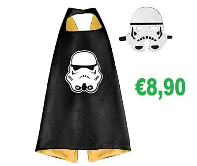 Set Maschera + Mantello costume Star Wars travestimento cosplay bambini