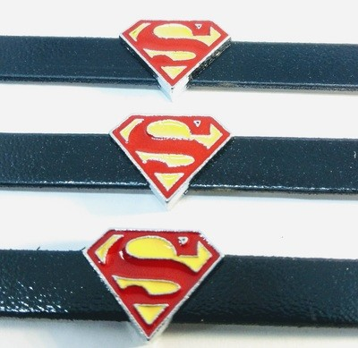 10 Braccialetti Superman slide glitter charms