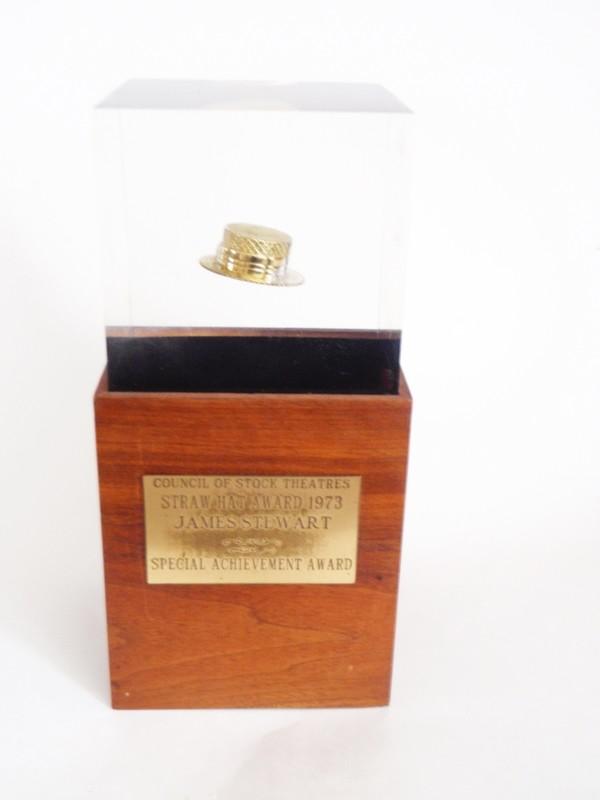 Genuine James Stewart Straw Hat Award Personal Estate