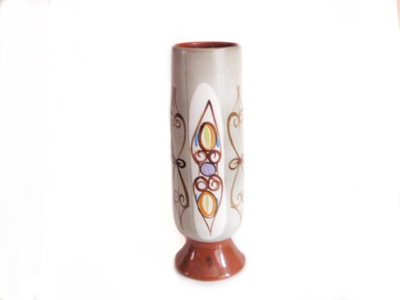 1960s Large Glyn Colledge Vase Denby Mid Century British Art Pottery