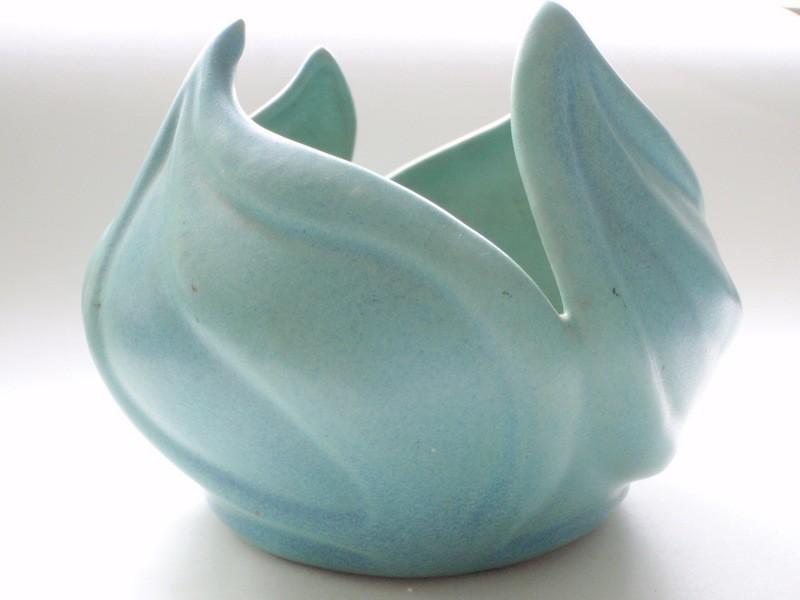 1940s Van Briggle Cut-Leaf Varigated Turquoise Glaze Vase