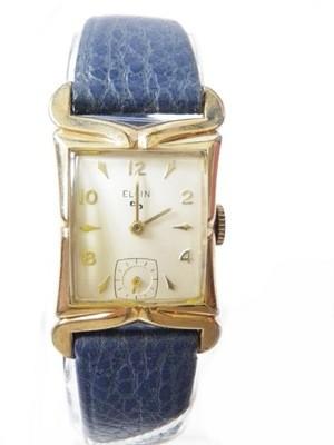 1940s Elgin Dress Watch with Fancy Case Lugs 10k Gold Filled