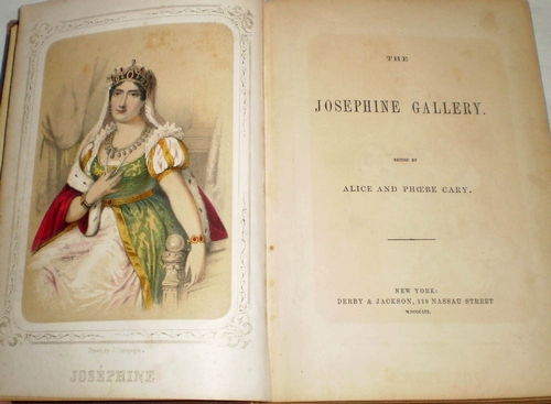 1859 The Josphine Gallery Short Stories Poetry Josephine Bonaparte