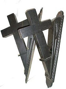 1800s Wooden Church Cross Cornices Corbels Corner Brackets