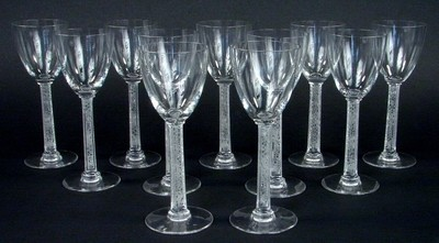5 Lalique Phalsbourg Stemware Barware Crystal Glasses