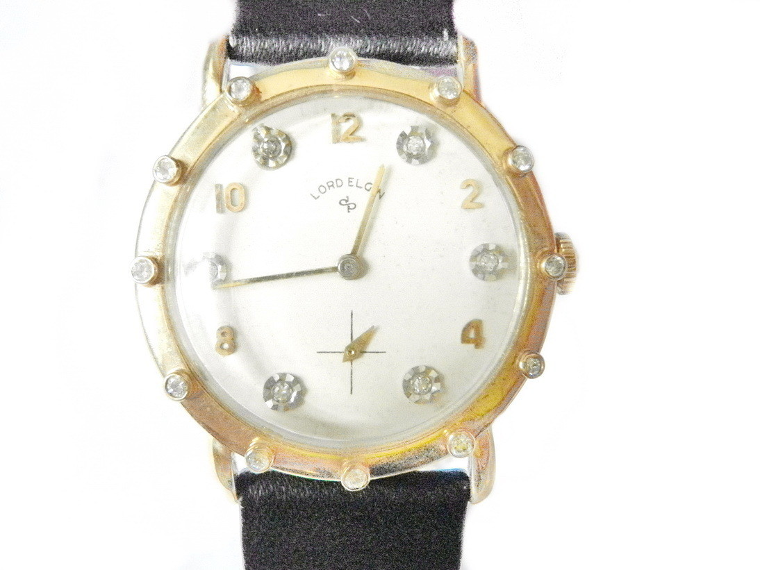 RARE Longines Watch, Solid 14k Yellow Gold, Diamond Bezel and Dials