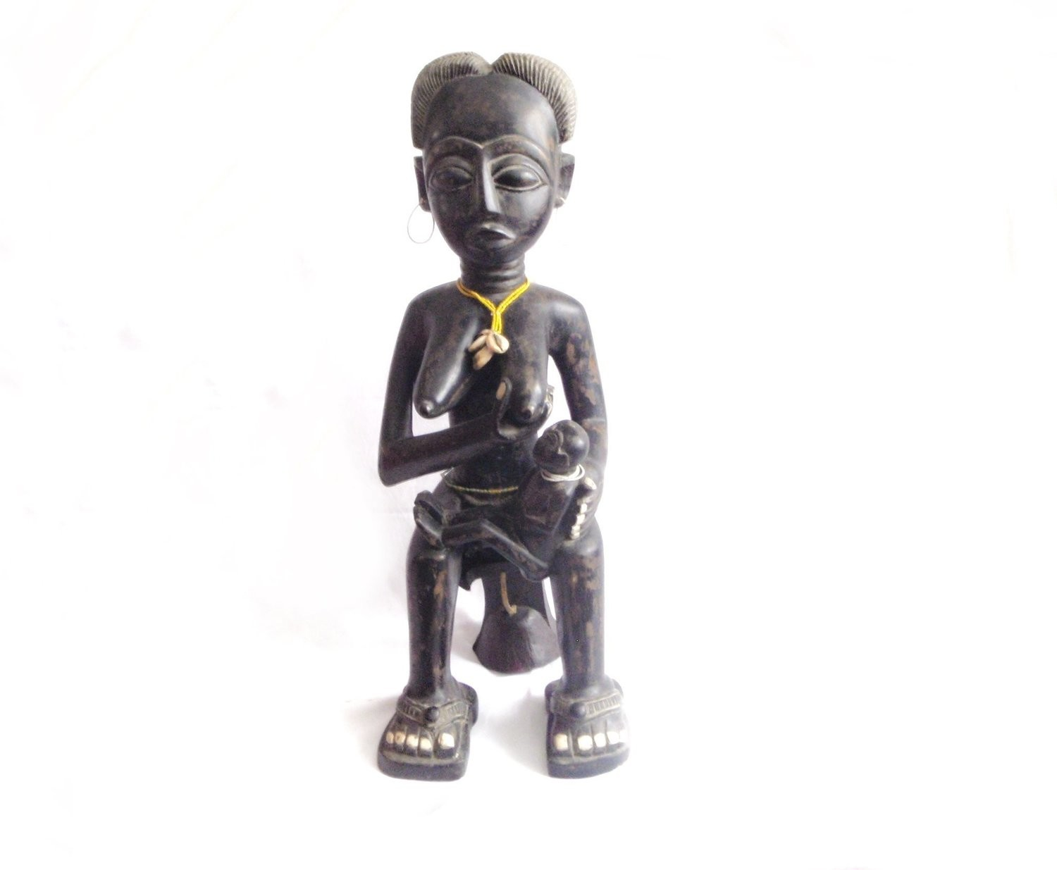 Fante Maternity Figure Ghana Mother Child Nursing African Figure