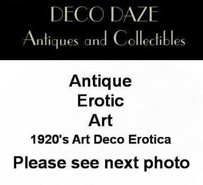 Art Deco Hand Colored Erotica Lithograph After Achille Deveria