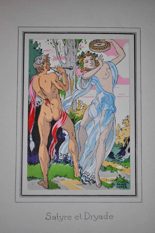 """1930's Andre Hofer Daphne and Cloe 10 Lithographs """"Danses Antiques'"""