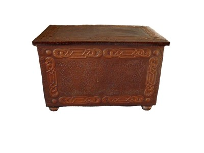 Craftsman Copper Blanket Keepsake Box Documents Container Vintage Storage
